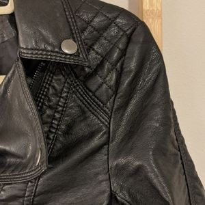 H&M FAuc Leather Jacket